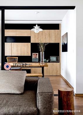 自然混搭风书房设计三居潮流混搭家装装修案例效果图