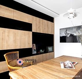 自然混搭风书房书柜设计三居潮流混搭家装装修案例效果图