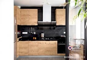 自然混搭风厨房设计图三居潮流混搭家装装修案例效果图