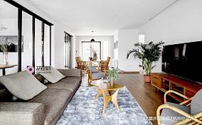 自然混搭风客厅茶几图三居潮流混搭家装装修案例效果图
