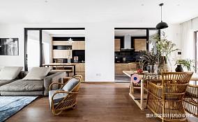 自然混搭风餐厅客厅一体设计三居潮流混搭家装装修案例效果图