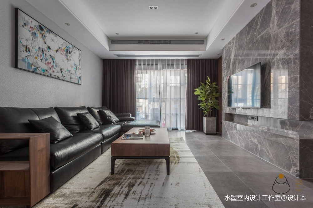 300㎡复式客厅茶几图客厅现代简约客厅设计图片赏析