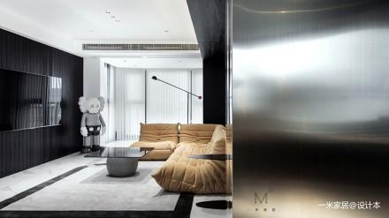 130㎡现代简约客厅设计