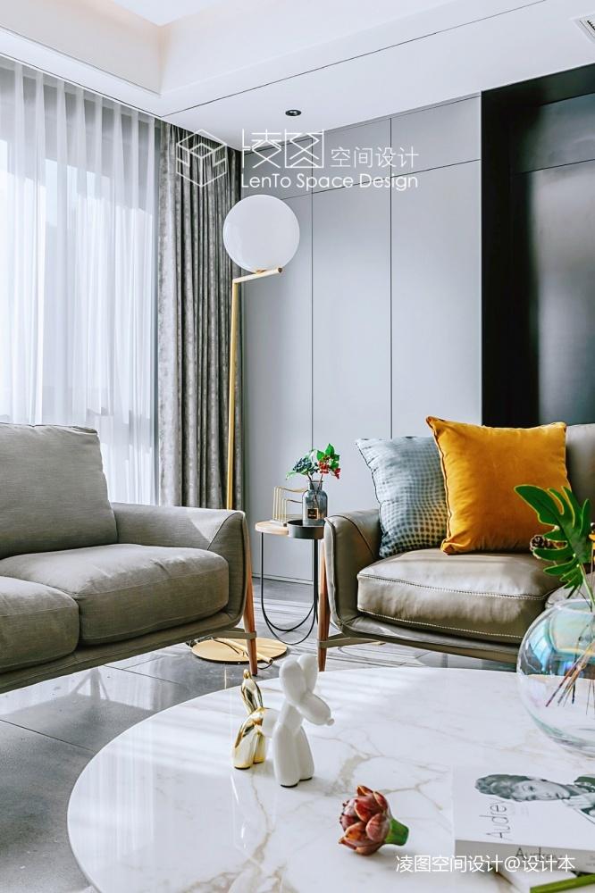 品质现代风落地灯图片客厅现代简约客厅设计图片赏析