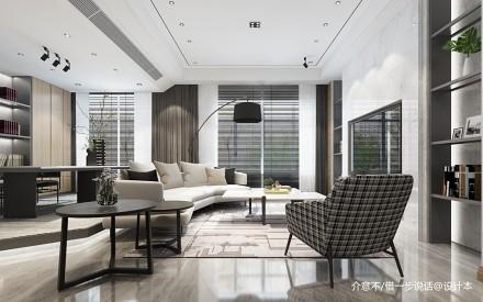 180m²现代客厅_3602852151-200m²三居现代简约家装装修案例效果图