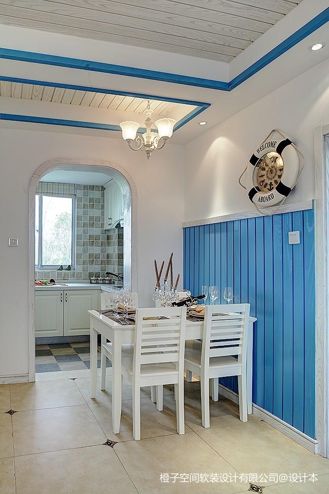 地中海藏于心里的蓝与白厨房地中海餐厅设计图片赏析