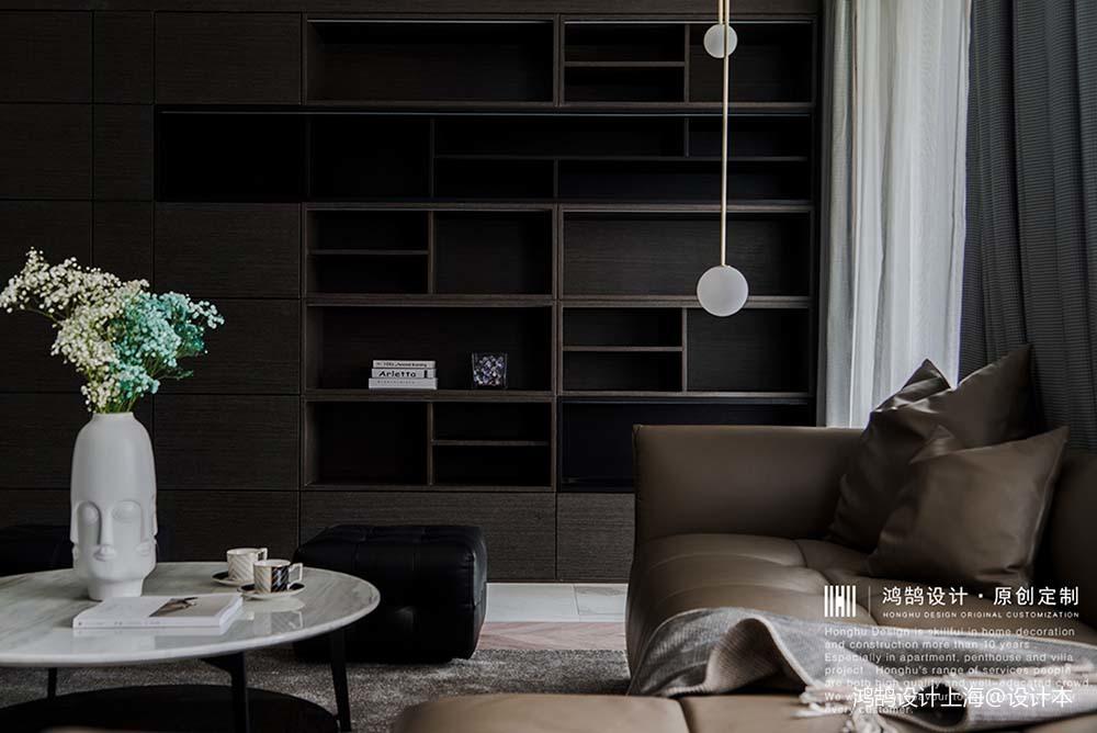 平凡现代风客厅储物柜设计客厅现代简约客厅设计图片赏析