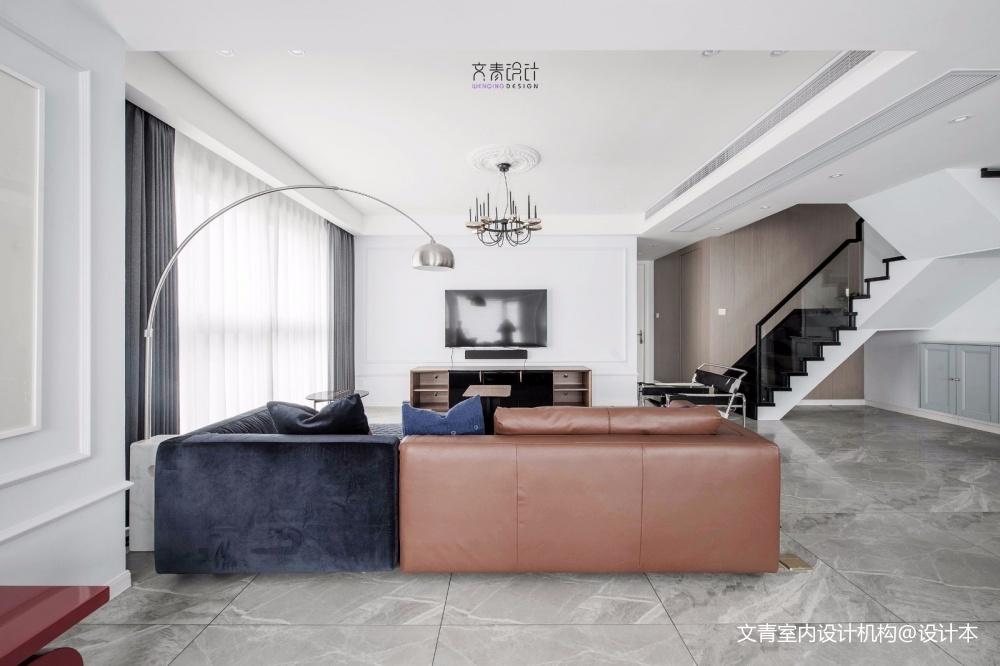 现代复古客厅落地灯图片客厅现代简约客厅设计图片赏析