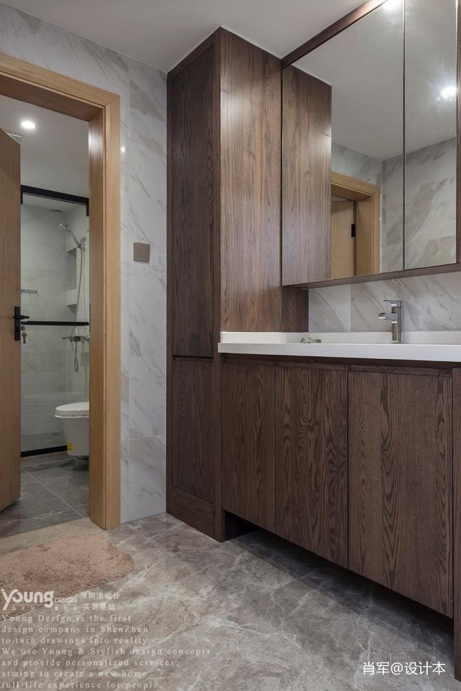 深圳錦繡花園現代風衛浴設計衛生間現代簡約衛生間設計圖片賞析
