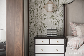 朝露·晞三居中式现代家装装修案例效果图