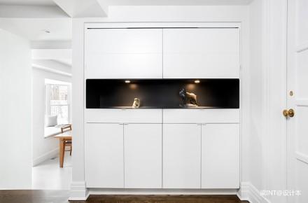 美国单身公寓装修效果图-白色玄关61-80m²一居现代简约家装装修案例效果图