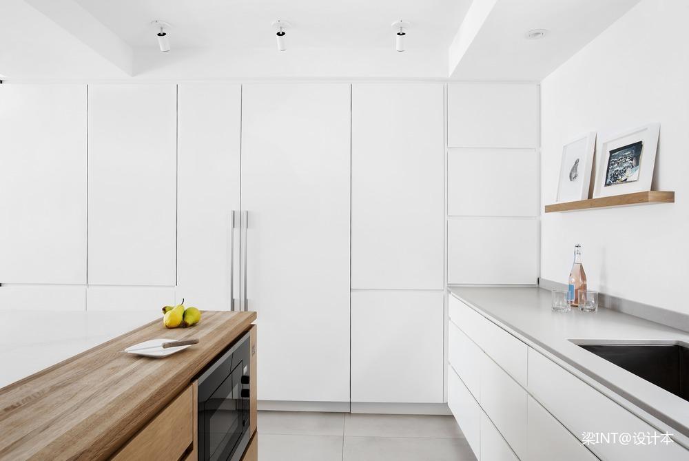 美国单身公寓现代简约装修效果图餐厅现代简约厨房设计图片赏析