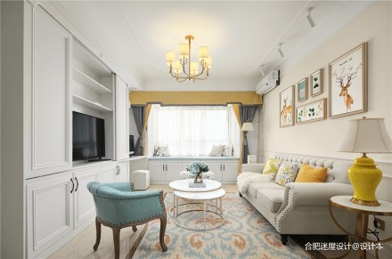 这个设计好大胆,主卧直接变成两个儿童房!_3613464二居美式经典家装装修案例效果图