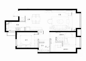 这个设计好大胆,主卧直接变成两个儿童房!二居美式经典家装装修案例效果图