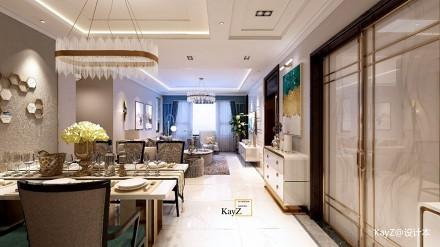 润景原著轻奢样板间_3617181121-150m²三居现代简约家装装修案例效果图