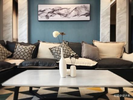 摩卡_3617304121-150m²三居现代简约家装装修案例效果图