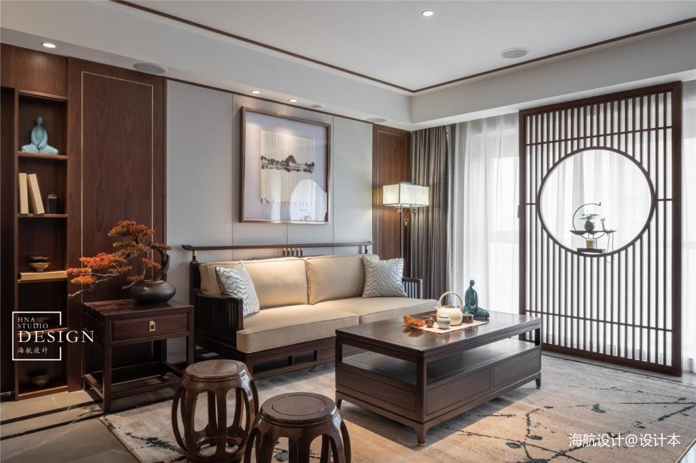 方圆之间只道寻常客厅中式现代客厅设计图片赏析