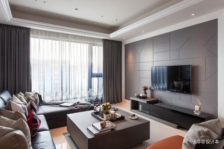 126平时尚潮男的摩登宅邸_3620610121-150m²四居及以上现代简约家装装修案例效果图