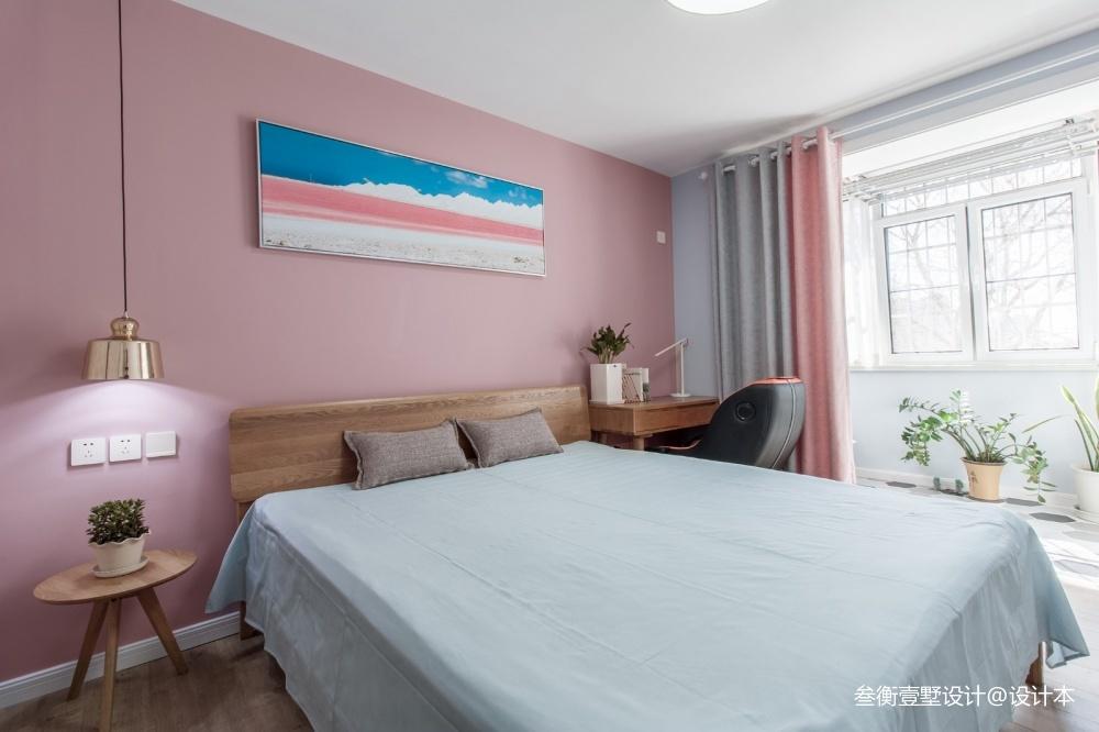 「moi」日华里实景卧室窗帘北欧极简卧室设计图片赏析