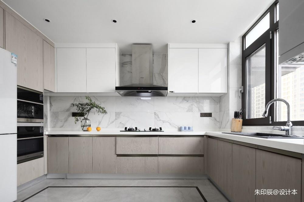 【与·见】餐厅橱柜中式现代厨房设计图片赏析