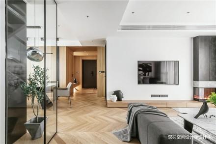 影 间 | 名门世家 | 双羽空间设计_3628306复式现代简约家装装修案例效果图