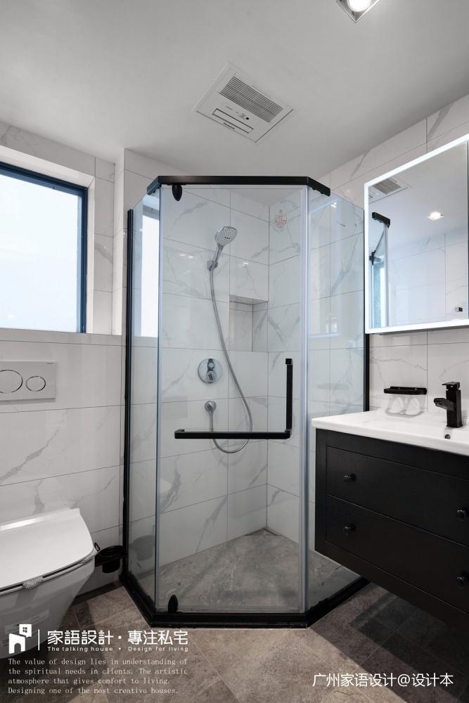 屏卫生间马桶潮流混搭卫生间设计图片赏析