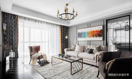 花漾   140㎡的改善型住房_3637790三居潮流混搭家装装修案例效果图