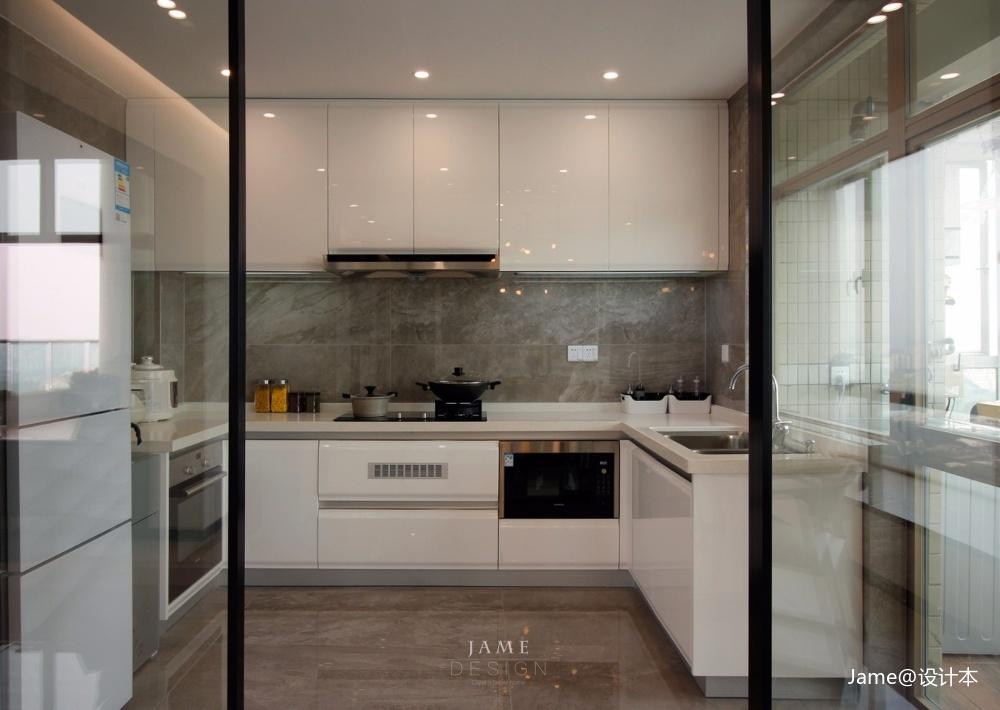 汇景新城餐厅现代简约厨房设计图片赏析