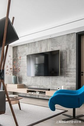 影格调沉稳的中式元素三居中式现代家装装修案例效果图