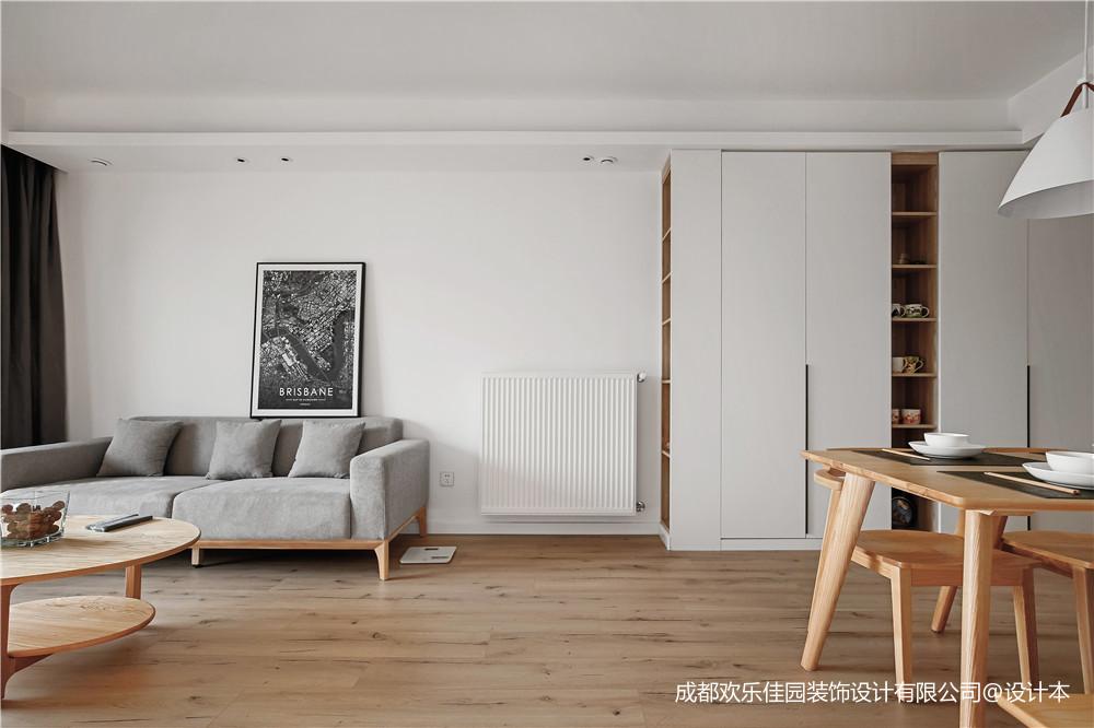 清新北欧,她家把收纳做到了满分三居北欧极简家装装修案例效果图