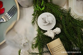 甲鱼君的圣诞绿丨当圣诞绿遇上复古小摩登四居及以上北欧极简家装装修案例效果图