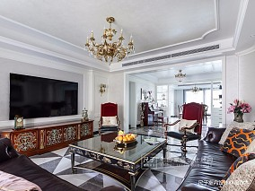 【尺子室内设计】理想国客厅美式经典设计图片赏析