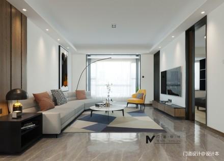 门道设计 · 首发  「向着明亮的那方」_3700808三居现代简约家装装修案例效果图