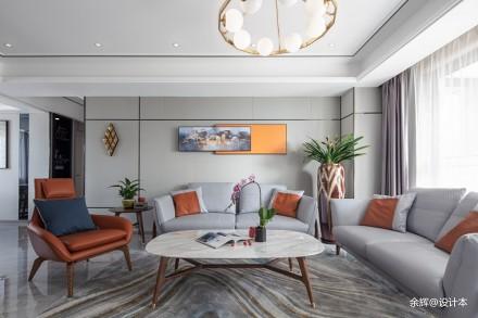 余辉设计---《橙色时光,现代轻奢公寓》_3706762四居及以上现代简约家装装修案例效果图