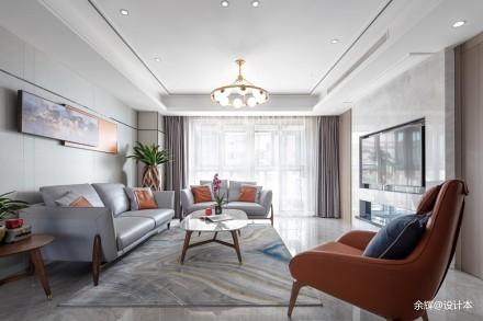 余辉设计---《橙色时光,现代轻奢公寓》_3706763