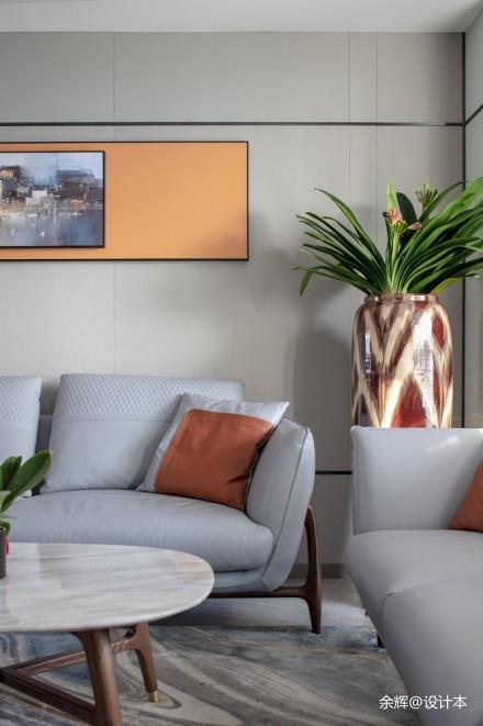 余辉设计---《橙色时光,现代轻奢公寓》_3706773