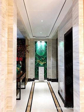 融创氿园新中式风格别墅装修玄关中式现代玄关设计图片赏析