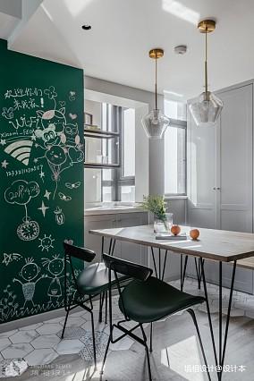 打通2套小公寓,获得舒适的生活大空间二居北欧极简家装装修案例效果图