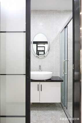 60㎡旧房改造,瞬间提高空间利用率卫生间现代简约设计图片赏析