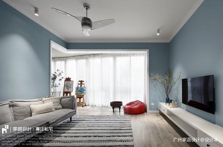 夏日清凉_3734454三居潮流混搭家装装修案例效果图
