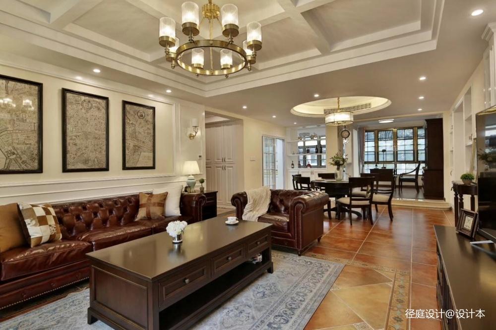 径庭设计美宅客厅美式田园客厅设计图片赏析