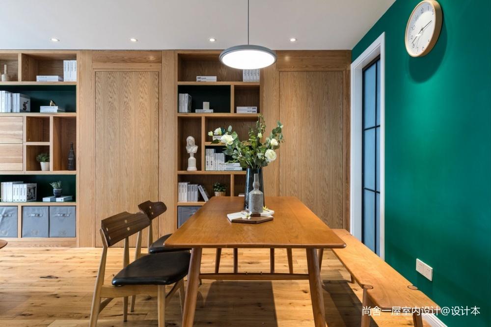 老师的家|全面墙书柜客厅+隐形门设计二居现代简约家装装修案例效果图
