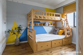 老师的家 | 全面墙书柜客厅+隐形门设计_3752564