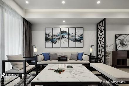 苏所·致渺_3754466三居中式现代家装装修案例效果图