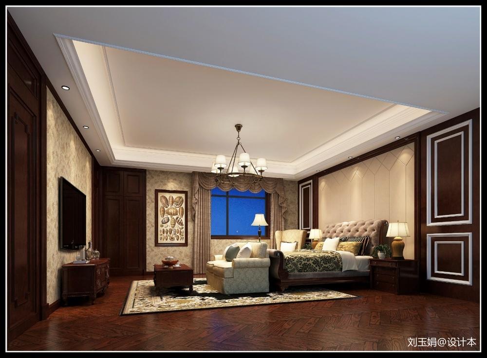 微风习习乡居墅卧室美式经典卧室设计图片赏析