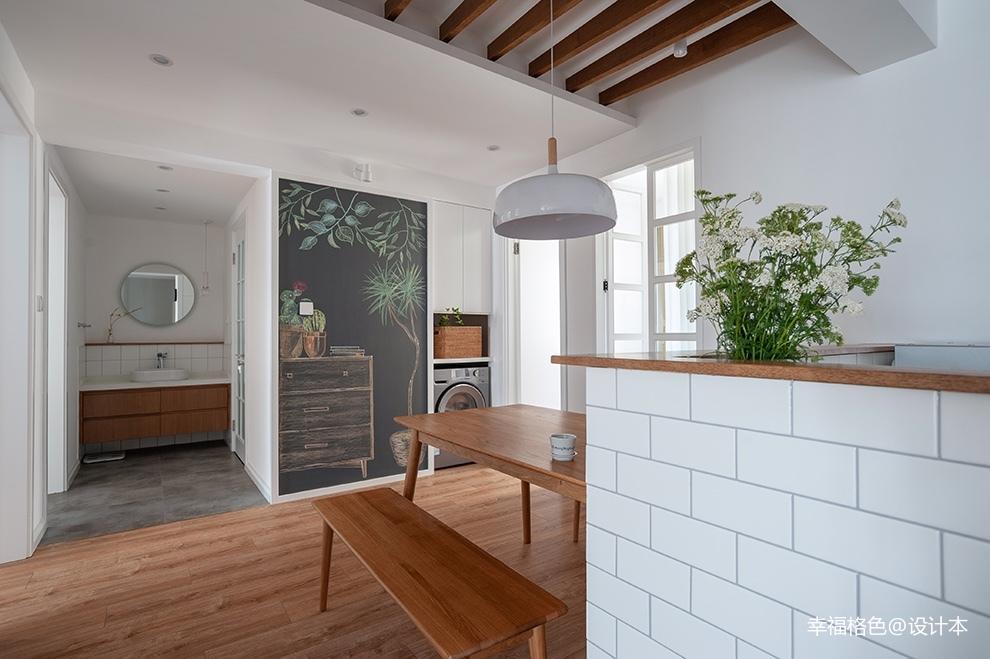 浅木色的日式北欧家真是太治愈了厨房门日式餐厅设计图片赏析
