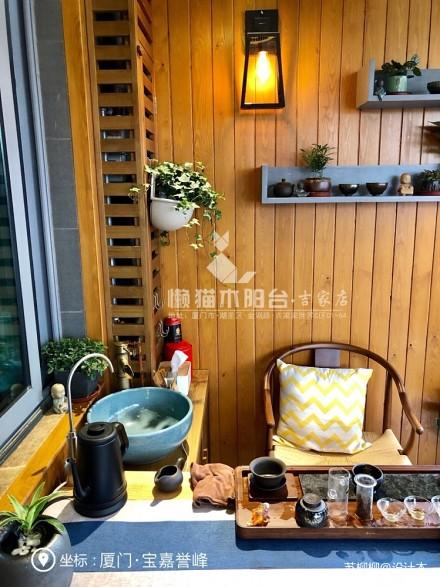 懒猫木阳台—禅意风阳台_3785052