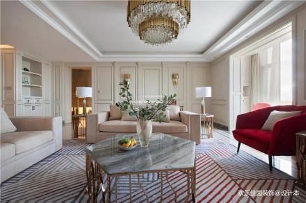 280大平层,优雅法式一点红_3785192四居及以上欧式豪华家装装修案例效果图