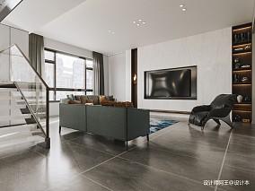 复式楼现代极简风格设计_3796967