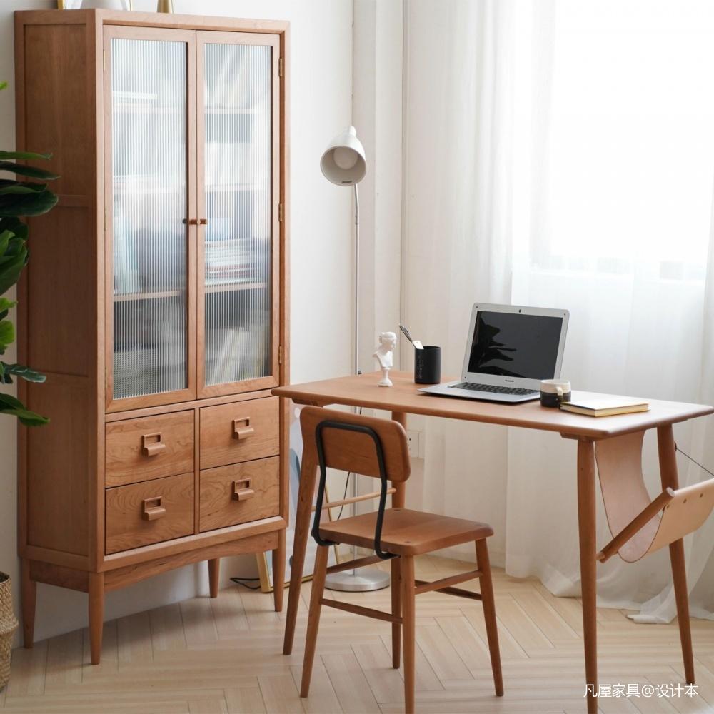 书房选用这些实木家具,打造阅读新体验三居日式家装装修案例效果图